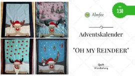 """Foto zu Schnittmuster Adventskalender-Quilt """"Oh my Reindeer!"""" von Almfee"""