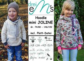 Foto zu Schnittmuster Hoodie Mini Joline von drei eMs