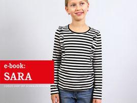 Produktfoto zu Kombi Ebook FRAU SARA & SARA Rüschenshirts im Partnerlook von Anja // STUDIO SCHNITTREIF