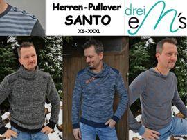 Foto zu Schnittmuster Herren-Pullover Santo von drei eMs