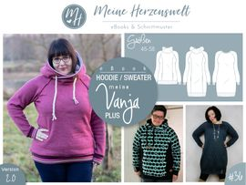 Foto zu Schnittmuster Hoodie/Sweater Meine Vanja plus von Meine Herzenswelt