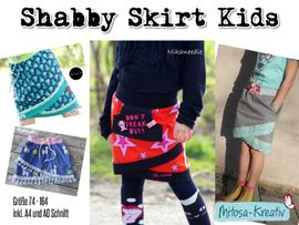 Produktfoto zu Kombi Ebook Kombi E-Book Shabby Skirt Ladies und Kids Gr. 34-52 / Gr. 74 - 164 von MiToSa-Kreativ