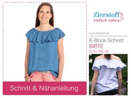 Foto zu Schnittmuster Bluse Birte 158-46 von Zierstoff
