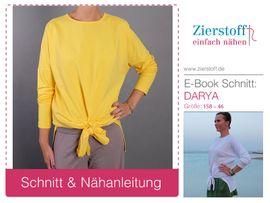 Foto zu Schnittmuster Knotenshirt Darya 158-46 von Zierstoff