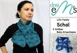 Foto zu Schnittmuster Family-Schal Lou von drei eMs