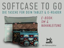 Produktfoto zu Kombi Ebook Softcase to Go Kombi E-Book Handy Tablet E-reader von Näh-Manufaktur