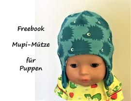 Foto zu Schnittmuster Mupi-Mütze für Puppen von Bunte Nähigkeiten