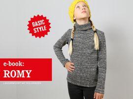 Produktfoto zu Kombi Ebook FRAU ROMY & ROMY Rollkragenshirts im Partnerlook von Anja // STUDIO SCHNITTREIF