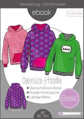 Foto zu Schnittmuster Basic Oversize-Hoodie Kids von ki-ba-doo