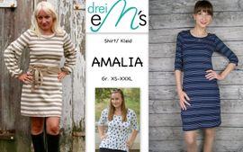 Foto zu Schnittmuster Shirt/Kleid Amalia von drei eMs