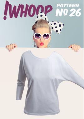 Foto zu Schnittmuster #26 Shirt mit Fledermausärmeln von !Whoop patterns