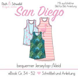 Foto zu Schnittmuster Oberteil San Diego von Pech & Schwefel