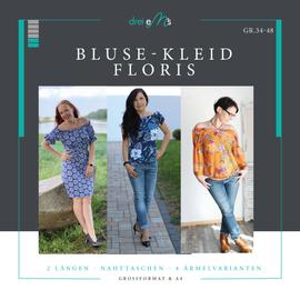 Foto zu Schnittmuster Bluse/Kleid Floris von drei eMs