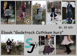 Foto zu Schnittmuster Godetrock Cathleen kurz 32-60+ von Sillyjay