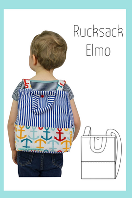 Foto zu Schnittmuster Kinderrucksack Elmo von Berlinerie