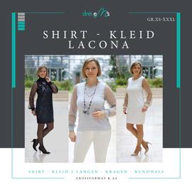 Produktfoto zu Kombi Ebook Shirt/Kleid LACONA + Rock CLARIE XS-XXXL von dreiems