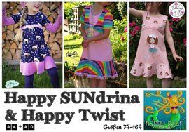 Produktfoto zu Kombi Ebook Little SUNdrina + Happy SUNdrina Tunika/Kleid und 43cm Puppenschnitt von HappyPearl