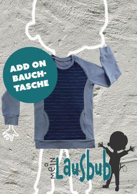 Produktfoto von Mein Lausbub Schnittmuster für Schnittmuster Add on Bauchtasche zu Bela Raglanshirt