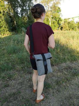 Foto zu Schnittmuster Rolltop Handtasche Paulchen von Meine Schnitte.de