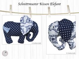 Foto zu Schnittmuster Nackenkissen Elefant von CoelnerLiebe
