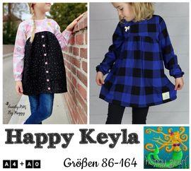 Produktfoto zu Kombi Ebook Little Keyla + Happy Keyla - Tunika und 43cm Puppenschnitt von HappyPearl