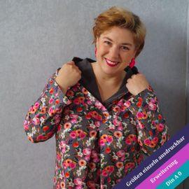 Produktfoto von Unendlich schön - Design Anita Lüchtefeld für Schnittmuster Erweiterung Petunia Kapuze oder Schalkragen