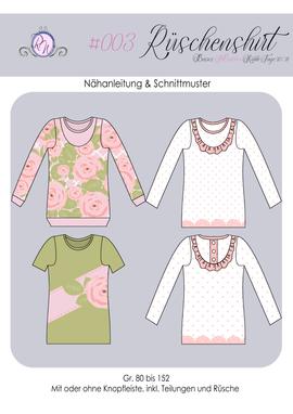 Produktfoto von Rosalieb & Wildblau für Schnittmuster Rüschenshirt