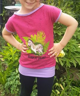 Foto zu Schnittmuster Mädchenshirt Lita von The Crafting Café