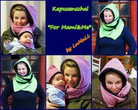 Foto zu Schnittmuster Kapuzenschal For Mami&Me von Lumali