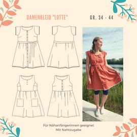 Foto zu Schnittmuster Damenkleid Lotte von Henriette Herzblut