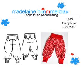 Foto zu Schnittmuster 1303 Pumphose von madelaine himmmelblau
