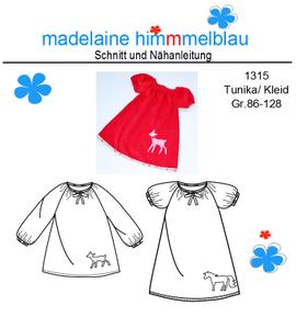 Foto zu Schnittmuster 1315 Tunika/Kleid von madelaine himmmelblau
