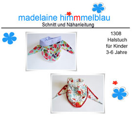 Foto zu Schnittmuster 1308 Halstuch für Kinder ab 3 Jahre von madelaine himmmelblau