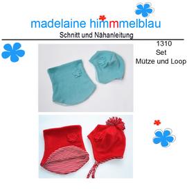 Foto zu Schnittmuster 1310 Mütze und Loop von madelaine himmmelblau