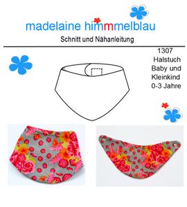 Foto zu Schnittmuster 1307 Halstuch Baby und Kleinkind von madelaine himmmelblau