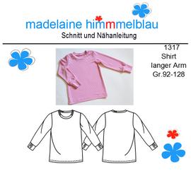 Foto zu Schnittmuster 1317 Shirt langer Arm von madelaine himmmelblau