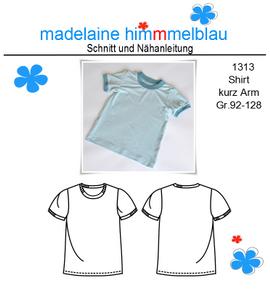 Foto zu Schnittmuster 1313 Shirt kurz Arm von madelaine himmmelblau