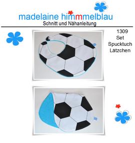 Foto zu Schnittmuster 1309 Spucktuch Lätzchen von madelaine himmmelblau
