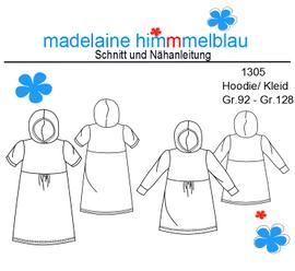 Foto zu Schnittmuster 1305 Hoodie/Kleid von madelaine himmmelblau