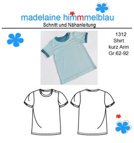 Foto zu Schnittmuster 1312 Shirt kurz Arm von madelaine himmmelblau