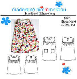 Foto zu Schnittmuster 1306 Bluse/Kleid von madelaine himmmelblau
