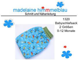 Foto zu Schnittmuster 1320 Babyschlafsack von madelaine himmmelblau