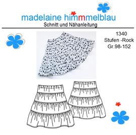 Foto zu Schnittmuster 1340 Stufen-Rock von madelaine himmmelblau