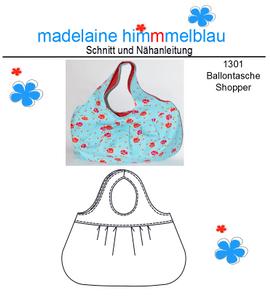 Foto zu Schnittmuster 1301 Ballon Tasche von madelaine himmmelblau