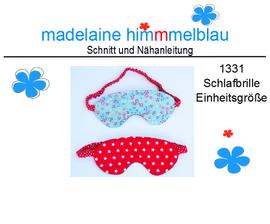 Foto zu Schnittmuster 1331 Schlafbrille von madelaine himmmelblau