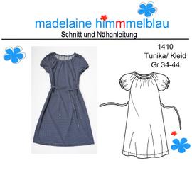 Foto zu Schnittmuster 1410 Tunika/Kleid von madelaine himmmelblau