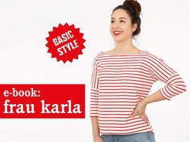 Produktfoto zu Kombi Ebook FRAU KARLA & KARLA Shirts im Partnerlook von Anja // STUDIO SCHNITTREIF