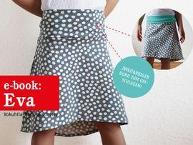 Produktfoto zu Kombi Ebook FRAU EVA & EVA Jerseyröcke mit Krempelbund von Anja // STUDIO SCHNITTREIF