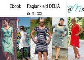 Foto zu Schnittmuster Raglankleid Delia von drei eMs