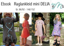 Foto zu Schnittmuster Raglankleid mini Delia von drei eMs